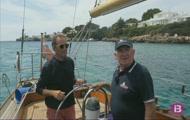 Pesca des del Club Nàutic Arenal, el Cervantes un veler clàssic