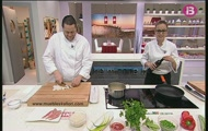 'Pop en tempura amb romesco d'algues' i 'Arròs de molls'